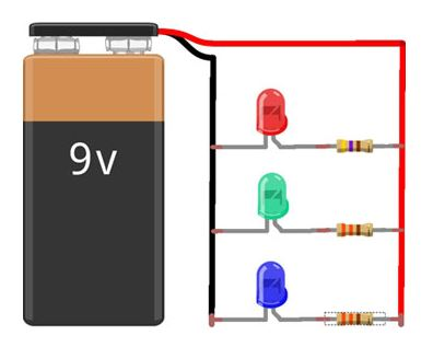 Calculo de resistor para led