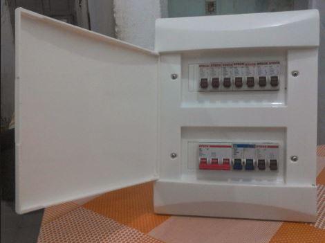 Caixa de distribuição elétrica