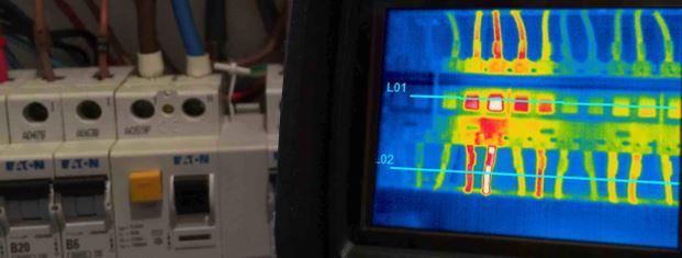 Imagem de uma inspeção termográfica