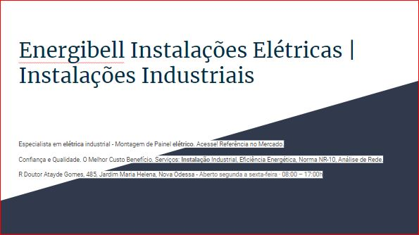 Energibell Instalações Elétricas