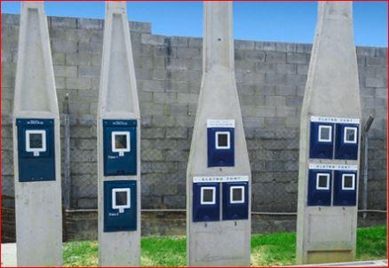 Poste padrão concreto